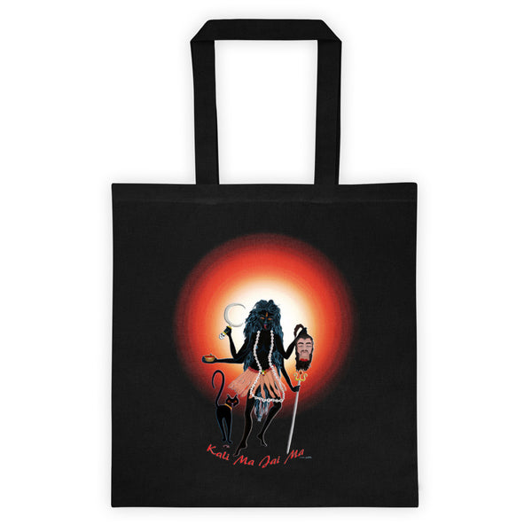 Kali Black Tote Bag