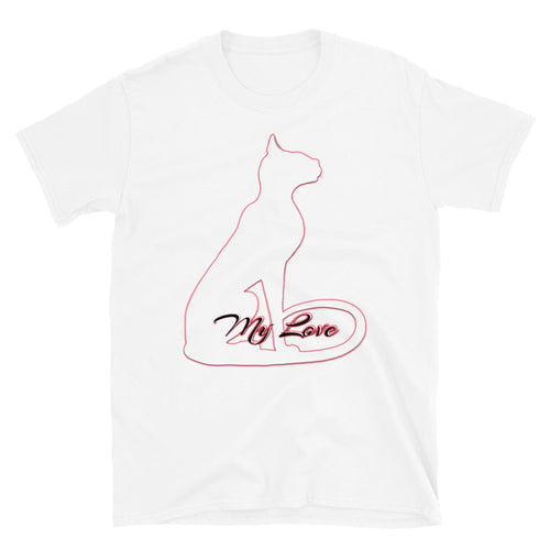 Bast My Love White Short-Sleeve Unisex T-Shirt