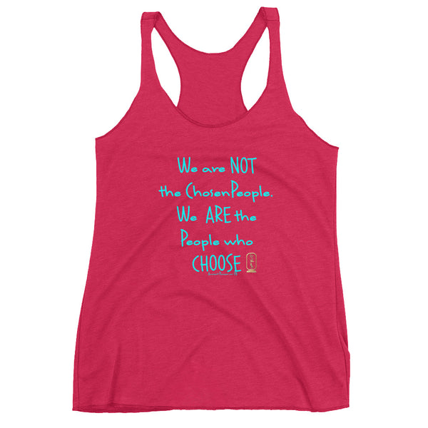 People Who Choose (Turquoise) Women's Racer-Back Tank Top