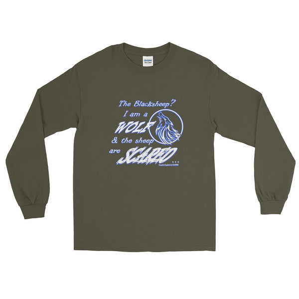 I am a Wolf Indigo Shadow Long Sleeve T-Shirt