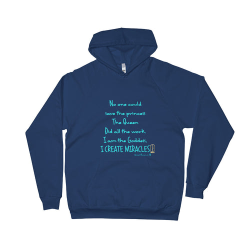 I am the Goddess (Turquoise) Unisex Fleece Hoodie