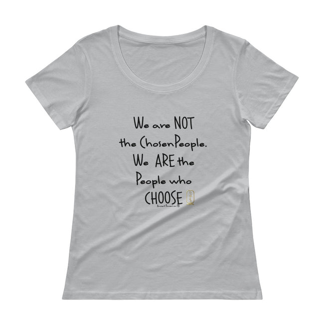 People Who Choose (Black) Women's Scoop Neck T-Shirt