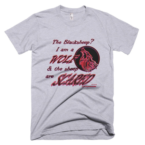 I am a Wolf with Red Shadow Men's Short Sleeve T-Shirt