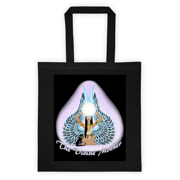 The Divine Mother Black Tote Bag
