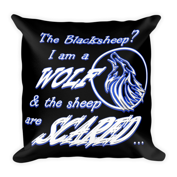 I am a Wolf with Indigo Shadow Pillow