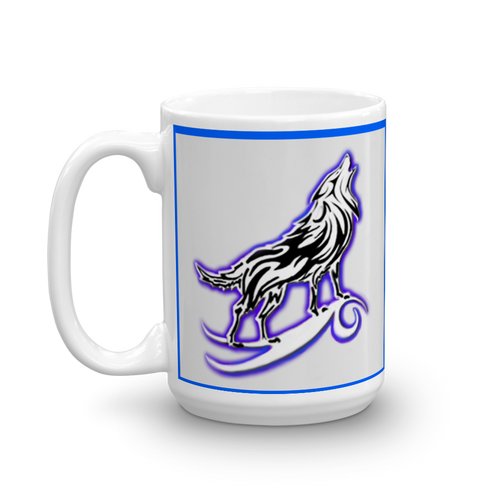 I am a Wolf with Indigo Shadow Mug