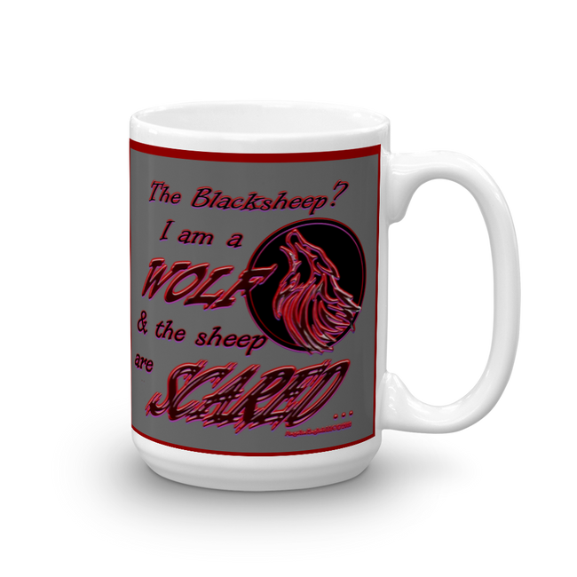 I am a Wolf with Red Shadow Mug
