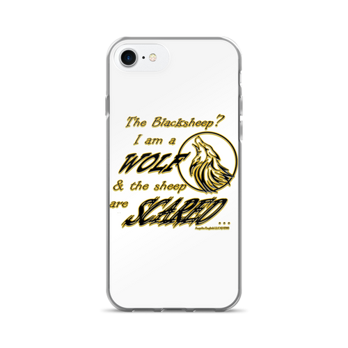 I am a Wolf with Gold Shadow iPhone 7 & 7 Plus Cases