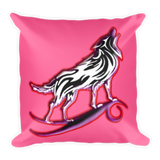 I am a Wolf with Red Shadow Pillow