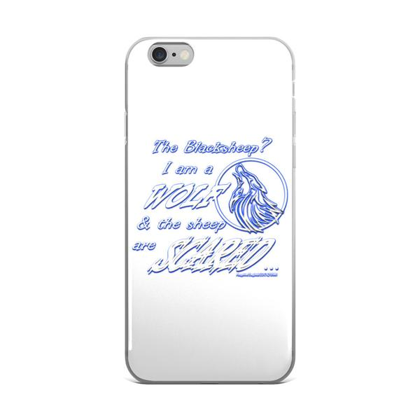 I am a Wolf with Indigo Shadow iPhone 6/6s & 6 Plus/6s Plus Cases
