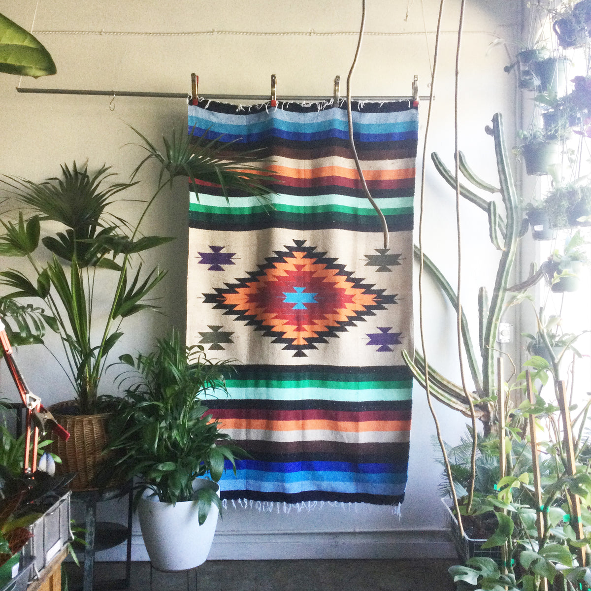 Diamond and Stripe Mexican Blanket