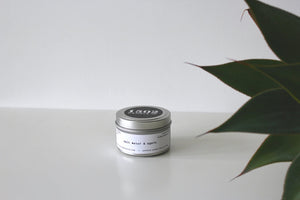 travel candle- salt water & agave- FAVORITE