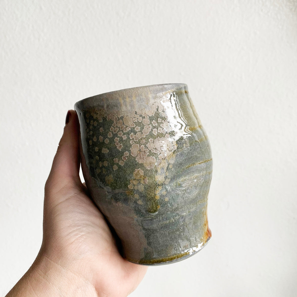 "3.5"" Studio Ceramic Vintage Pot"