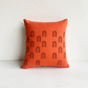 Hand Printed Arches Pillow