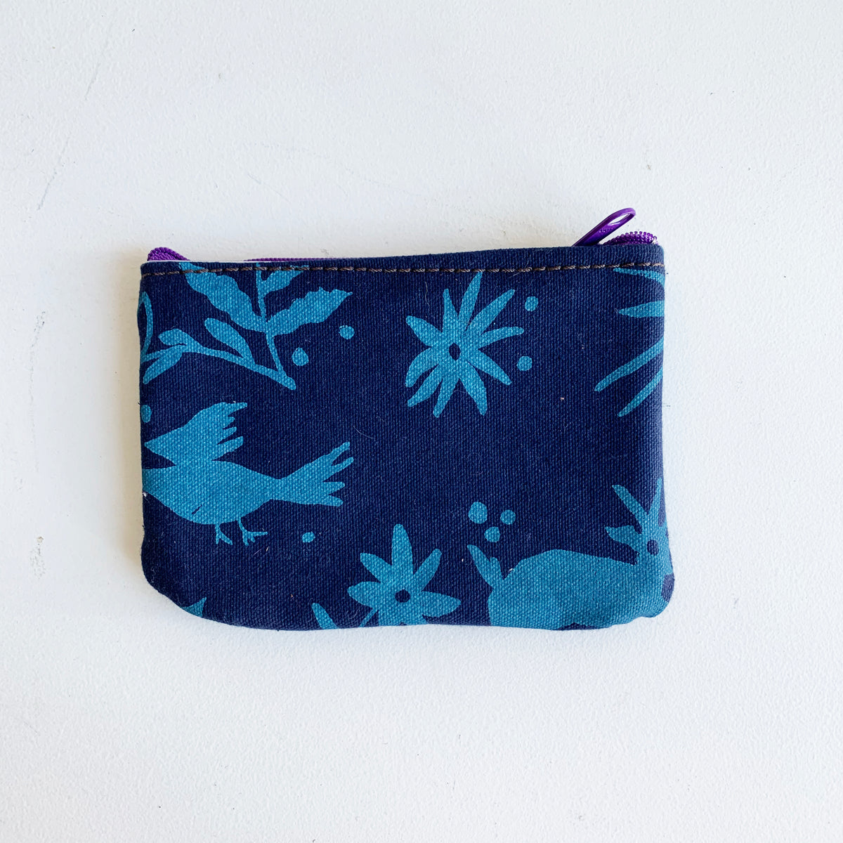 Canvas Change Purse Handprinted with Otami