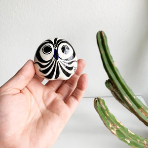 Vintage Tiny Mexican Pottery Owl