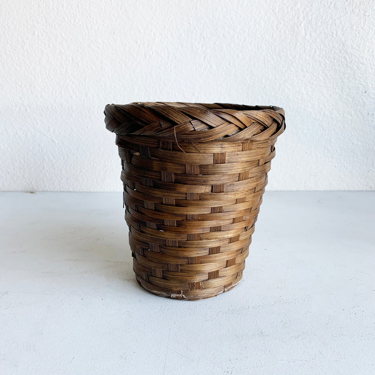 Vintage Basket with Braided Detail
