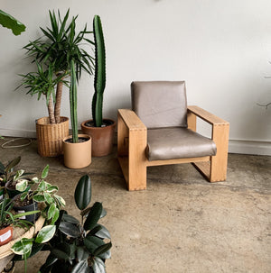 Leather Mod Arm Chair- Vintage