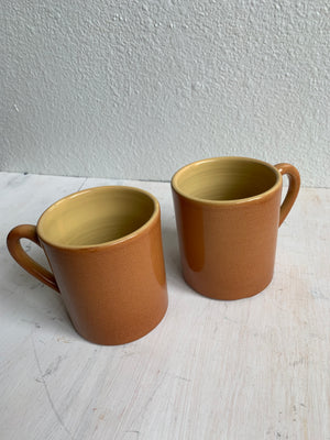 Pair of Vintage Mexican Pottery Mugs