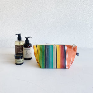 Cosmetic Bag in Vivid Saltillo Stripes