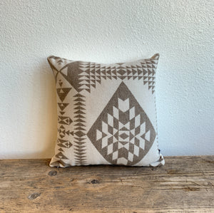 Basket Weaver Pillow- Wool and Canvas