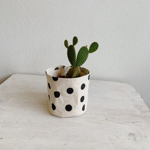 Medium Canvas Bucket—Polka Dot