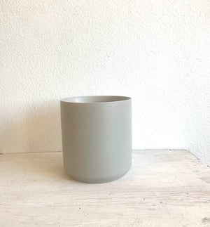 "Matte Grey Pot 9"" LOCAL delivery or Pick- up only"