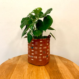 XL Bucket Planter Made from Vintage Deadstock Japanese Fabric