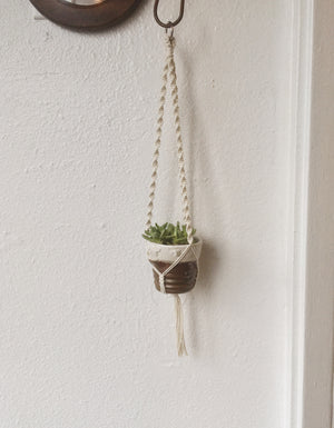 small/xsmall Macrame Plant Hanger- knot and cord