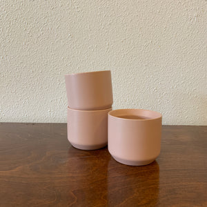 "Small Dusty Pink Ceramic Pot 3"" LOCAL Delivery or Pick-up Only"