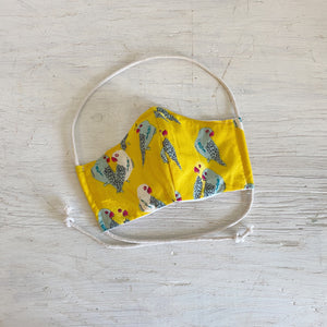 Yellow Parakeet Face Mask