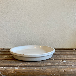 "White Glazed Ceramic Saucer 8"" LOCAL pick-up or delivery only"