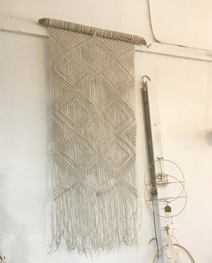 "Long Macrame Wall Hanging- ""Diamante Playa"""