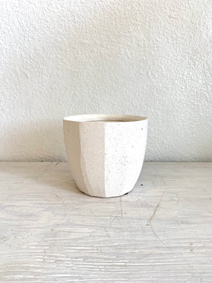 "Off White Bona Pot 4.5"" LOCAL Delivery or Pick-up Only"