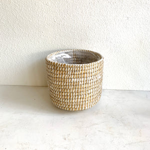"Sea Grass Basket 8.5"" in diameter"