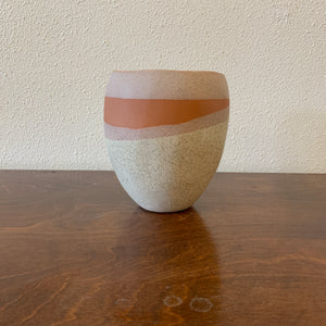 "Pink and White Pot 5.5""- LOCAL Pick-Up or Delivery ONLY"