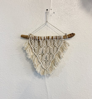 "Small Macrame Wall Hanging - ""Arrowhead"""