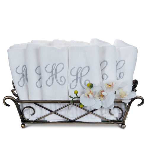 Basket of fingertip towels