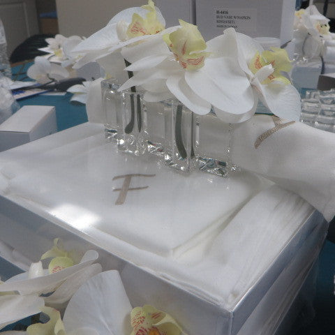 Beautiful lucite napkin rings