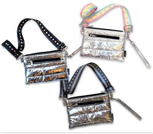 Metallic Puffer Crossbody Bags
