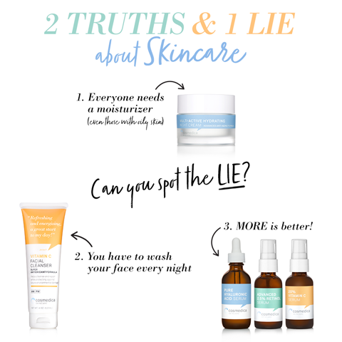 2 Truths & 1 Lie about Skincare