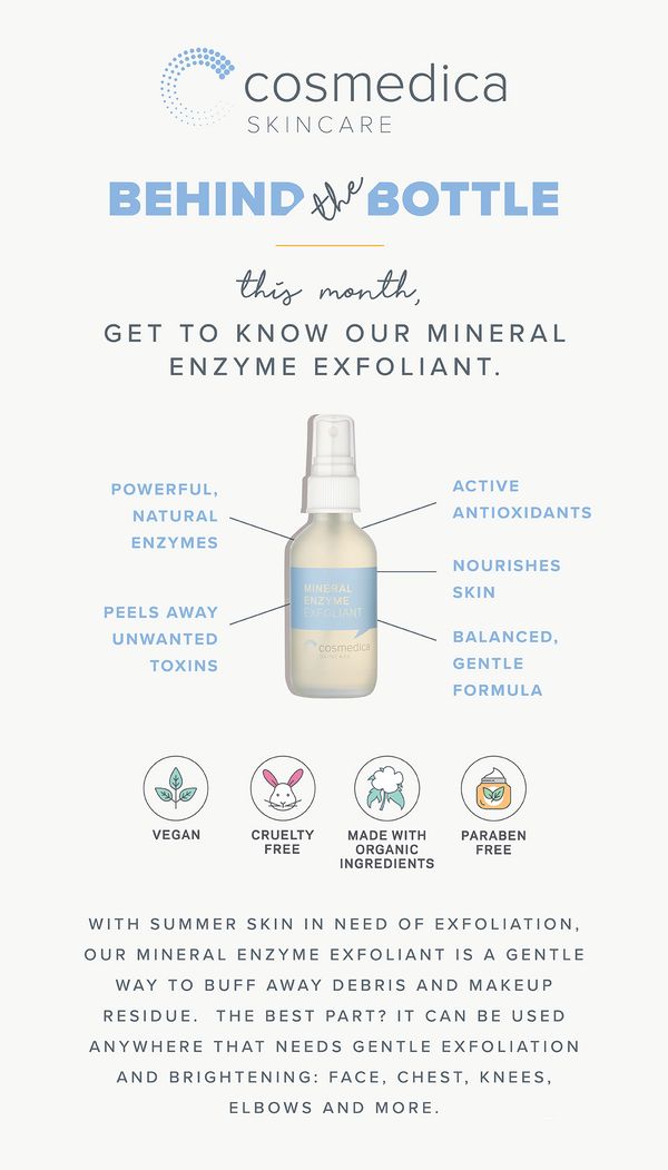 Behind the Bottle: Mineral Enzyme Exfoliant