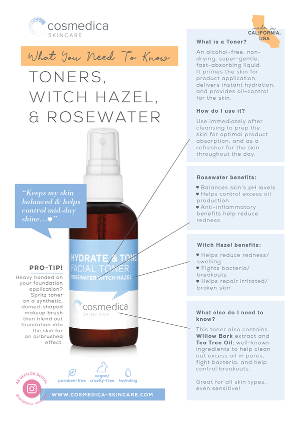 Toner, Rosewater, & Witch Hazel: What You Need To Know