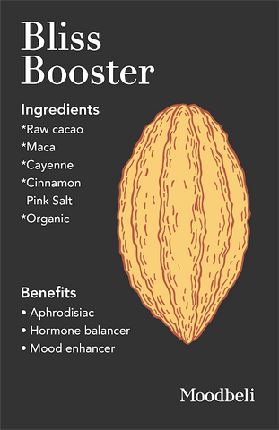 Bliss Booster helps relieve stress, enhance vitality, and bring the mind into the present.