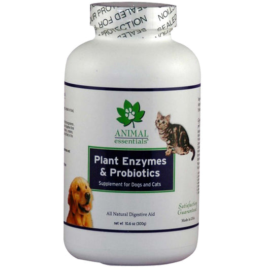 Animal Essentials Plant Enzyme & Probiotics Powder for Dogs & Cats, 10.6 oz - PawMax