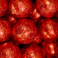 red chocolate balls