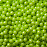 SHIMMER LIME GREEN CANDY PEARLS from Miami Candies Sweets & Snacks