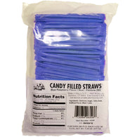 BLUE RASPBERRY, CANDY FILLED STRAWS from Miami Candies Sweets & Snacks