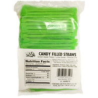 GREEN APPLE, CANDY FILLED STRAWS from Miami Candies Sweets & Snacks