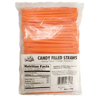 ORANGE, CANDY FILLED STRAWS from Miami Candies Sweets & Snacks